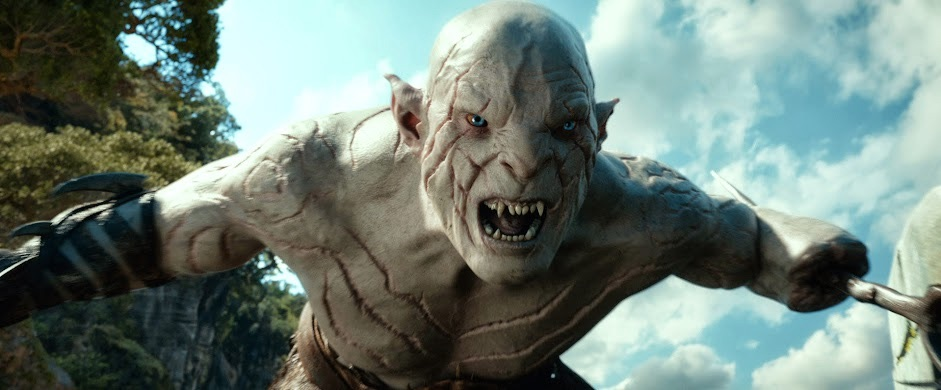 "l'orco albino Azog, dal film ""Lo Hobbit, La desolazione di Smaug"" - Copyright 2013 Warner Bros. Entertainment Inc. and Metro-Goldwyn-Mayer Pictures Inc."